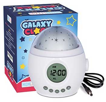 Galaxy Clock by MomKnows Kids Ceiling Projection